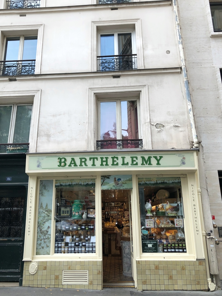 Outside of Barthelemy Fromagerie