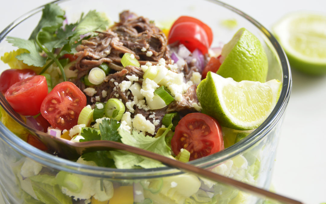 Shredded Beef Keto Taco Salad Recipe