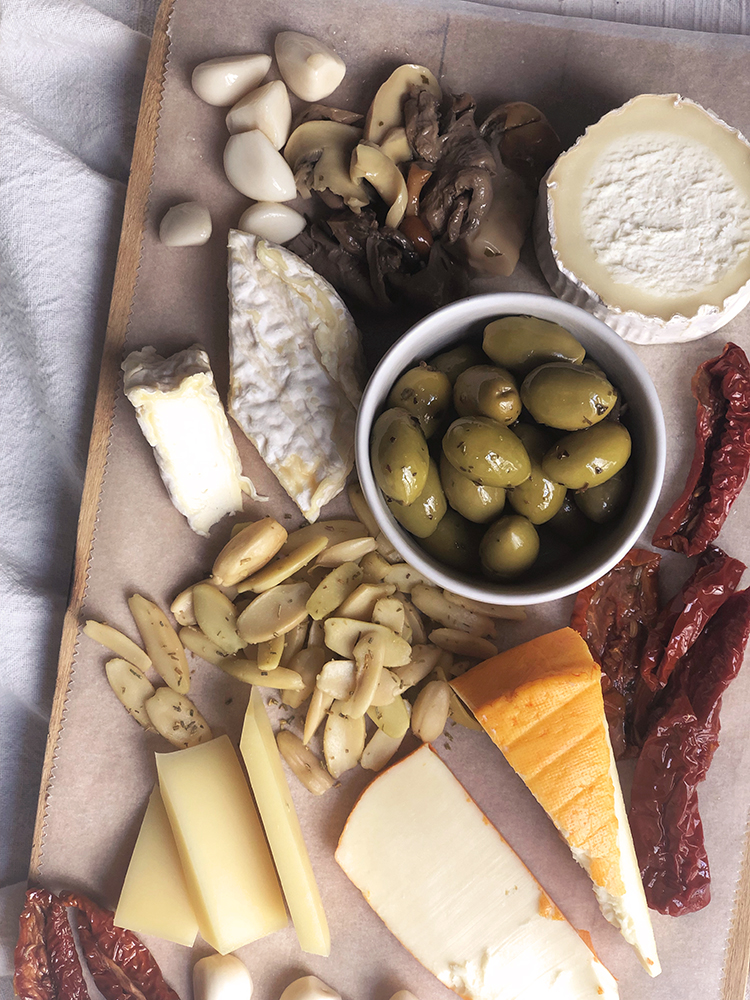Homemade French Cheese Board