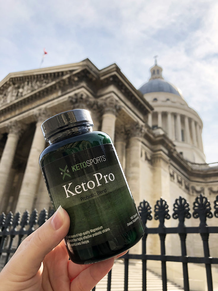Keto Sports KetoPro in front of the Pantheon in Paris