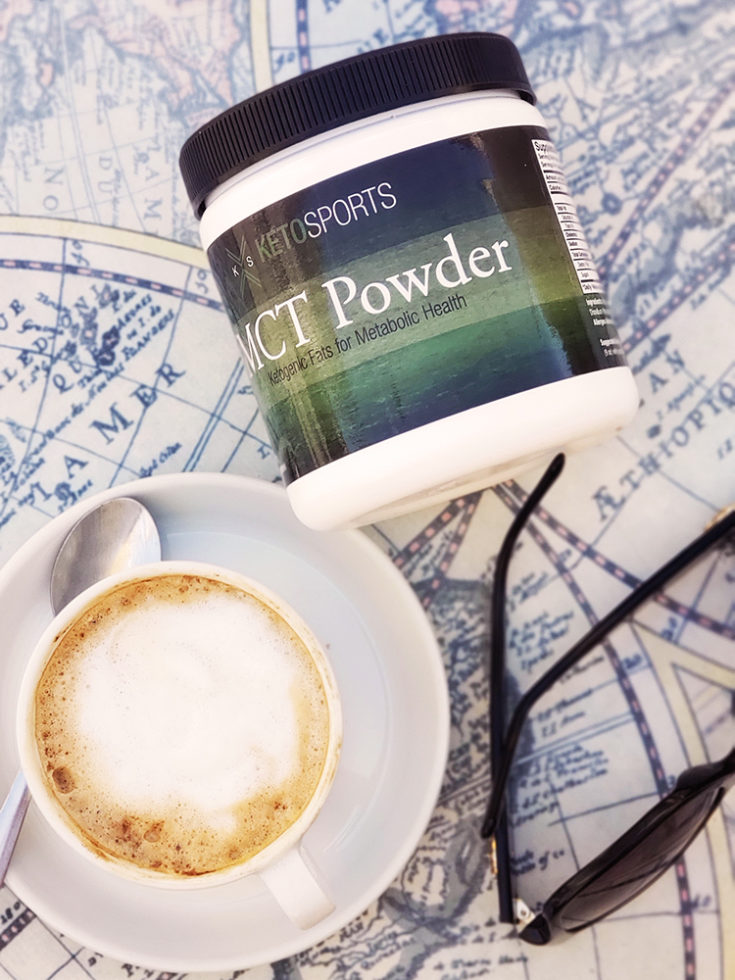 Keto Sports MCT Powder and a cafe in Dijon, France