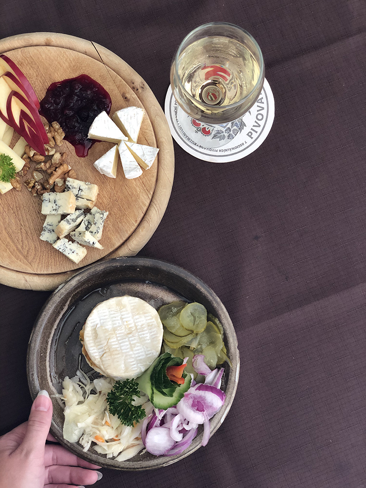 Marinated Camembert and Czech Cheeses in Prague