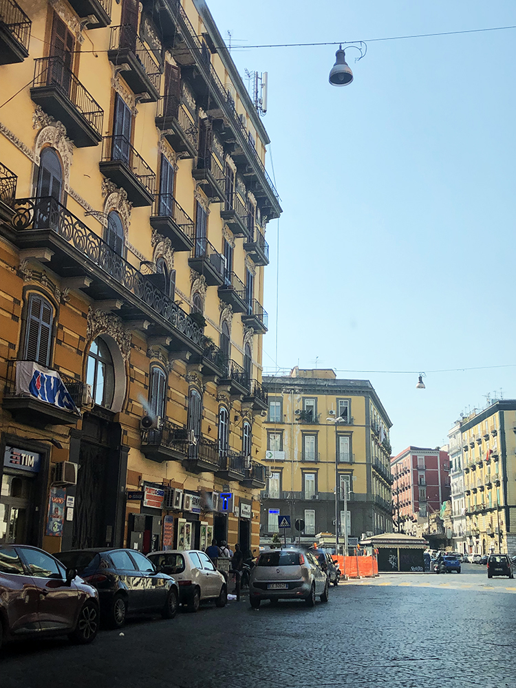 Street and Buildings in Naples Italy