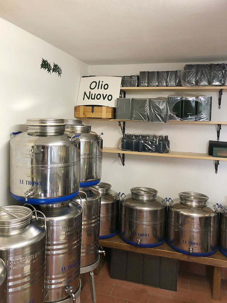 Olive Oil Room at Le Trosce