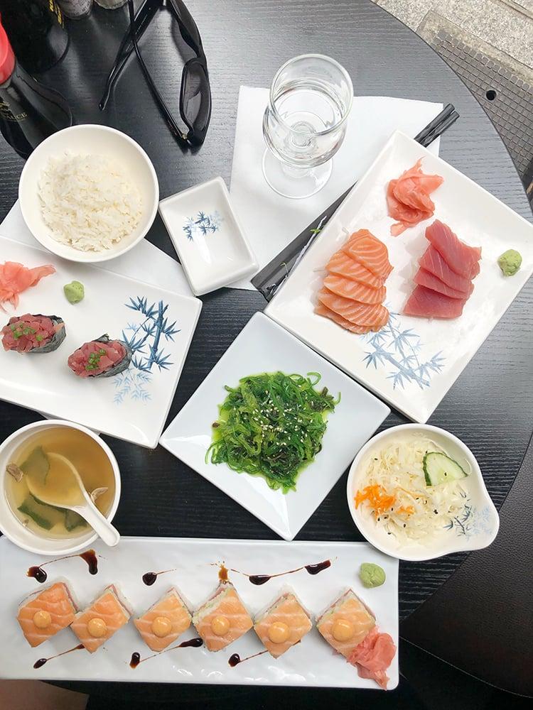 Sushi Spread at Japanese Restaurant in Paris