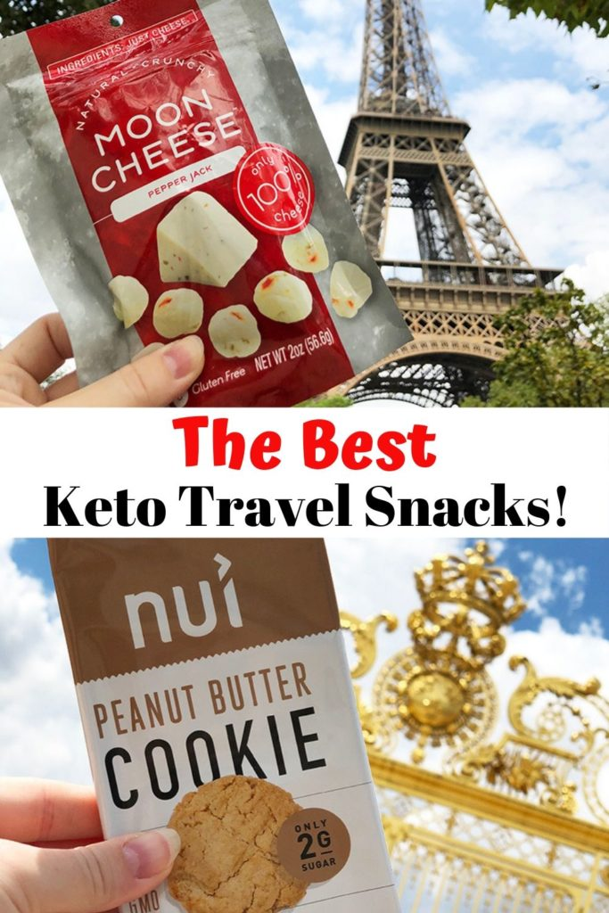 the best keto diet travel snacks pinable image