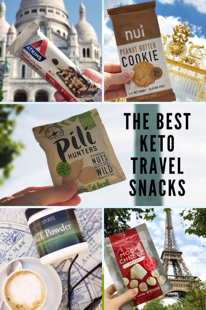 the best keto travel snacks pinable image