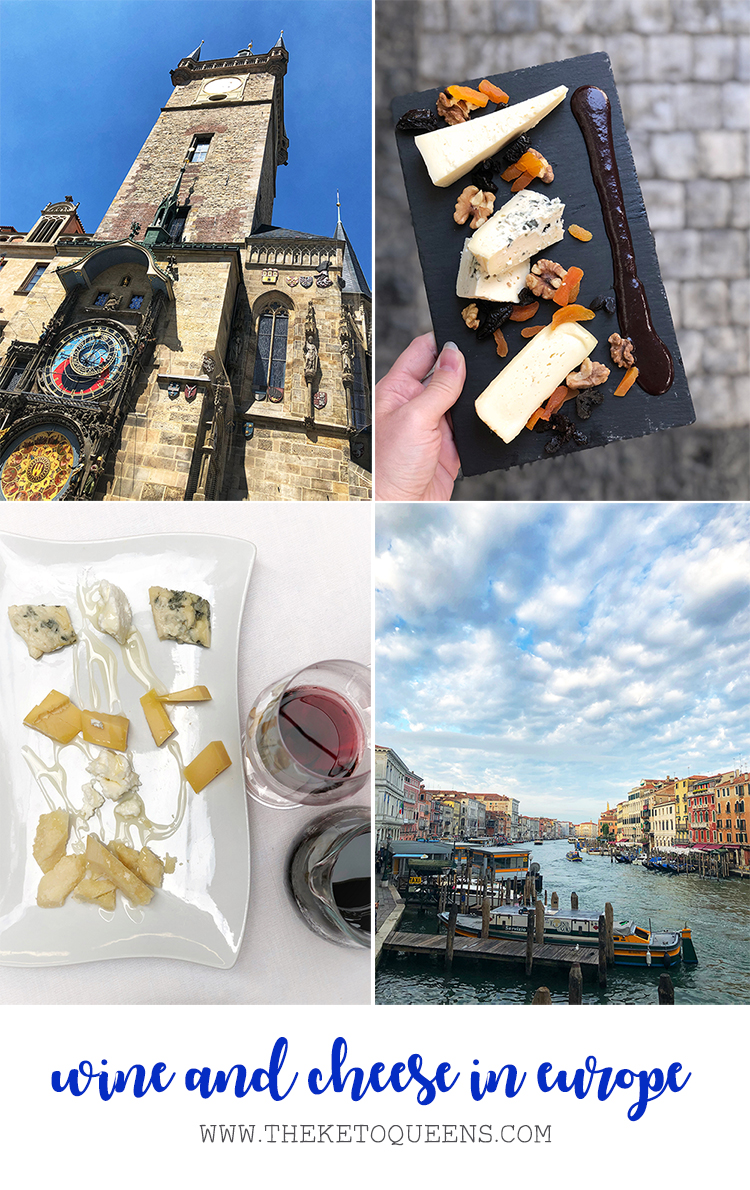 Wine and Cheese in Europe Collage