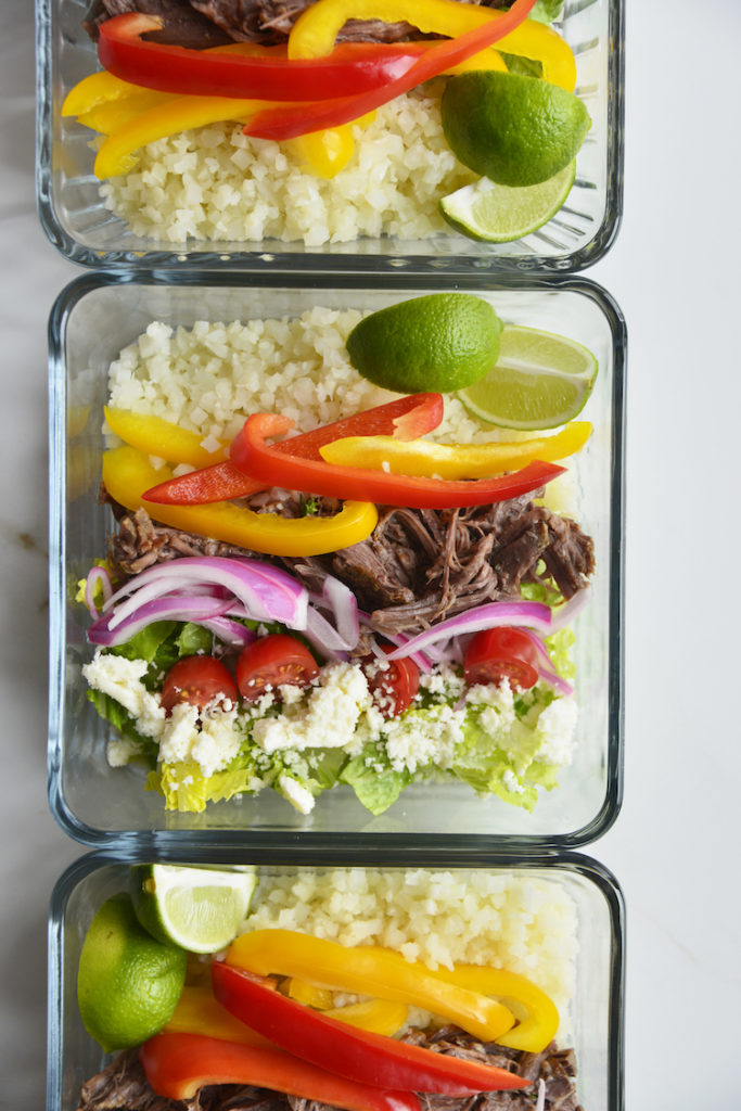 Instant Pot Chicken Burrito Bowl Low Carb