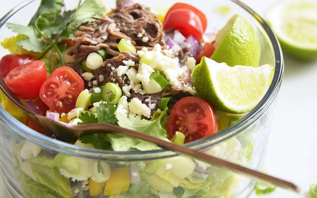 Shredded Beef Keto Taco Salad Recipe
