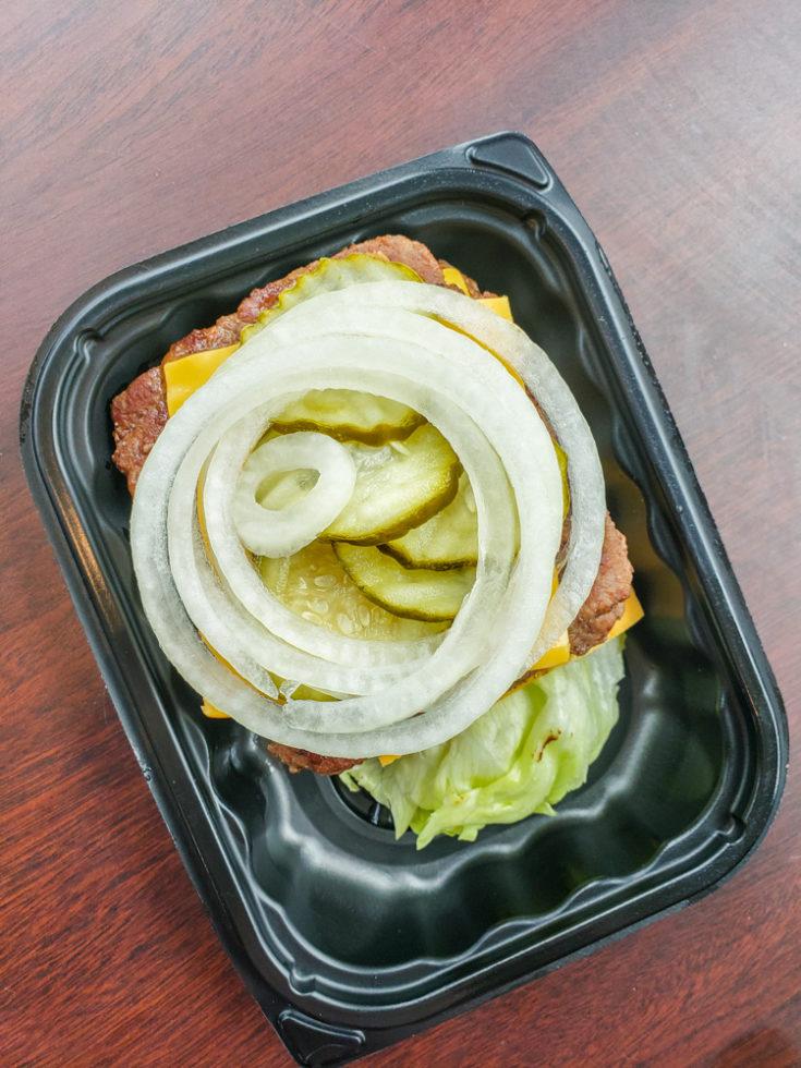 Wendy's keto options - double cheeseburger no bun