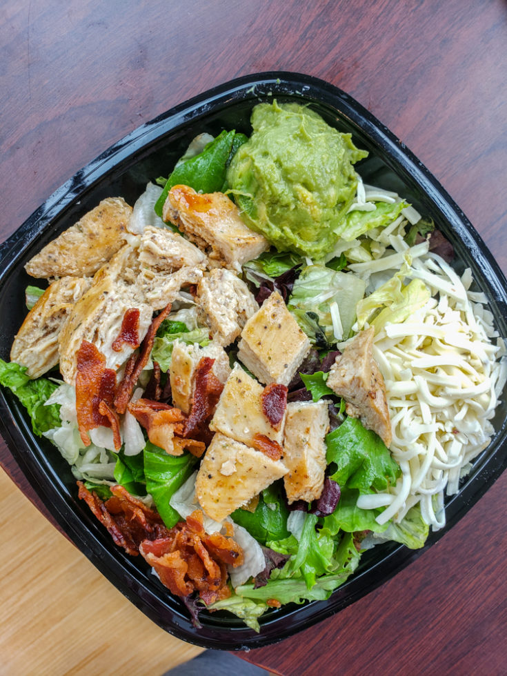 Wendy's keto options - southwestern chicken salad