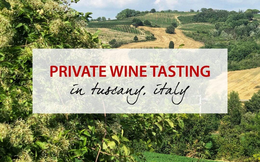 Private Tuscan Wine Tasting at Le Trosce