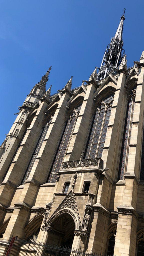 Sainte-Chapelle church outside