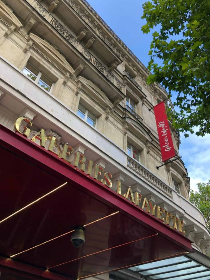 Galeries Lafayette shopping in paris