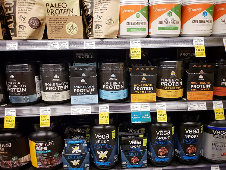 Collagen and Protein Products at Whole Foods