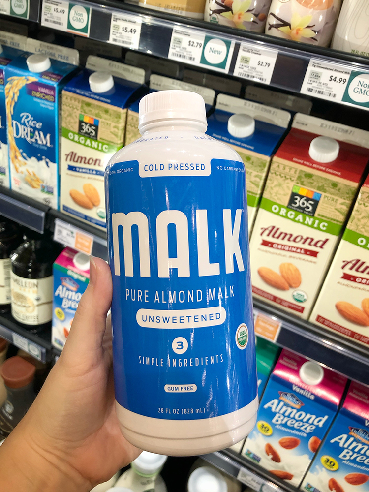 Almond Milk at Whole Foods