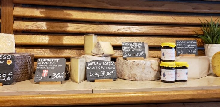 image of cheeses in Paris