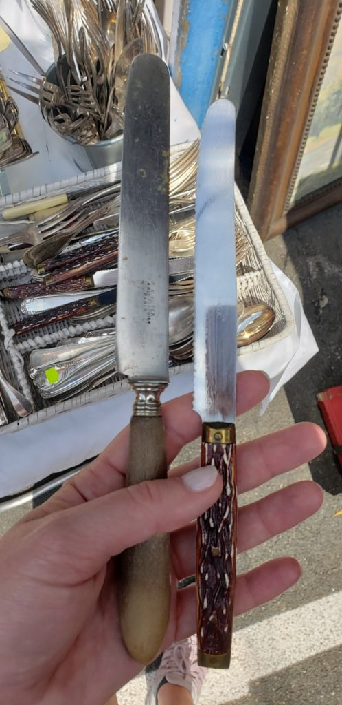 old french knives from the market