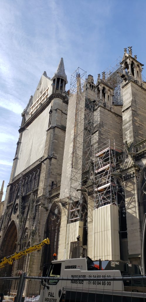 Notre Dame after fire damage
