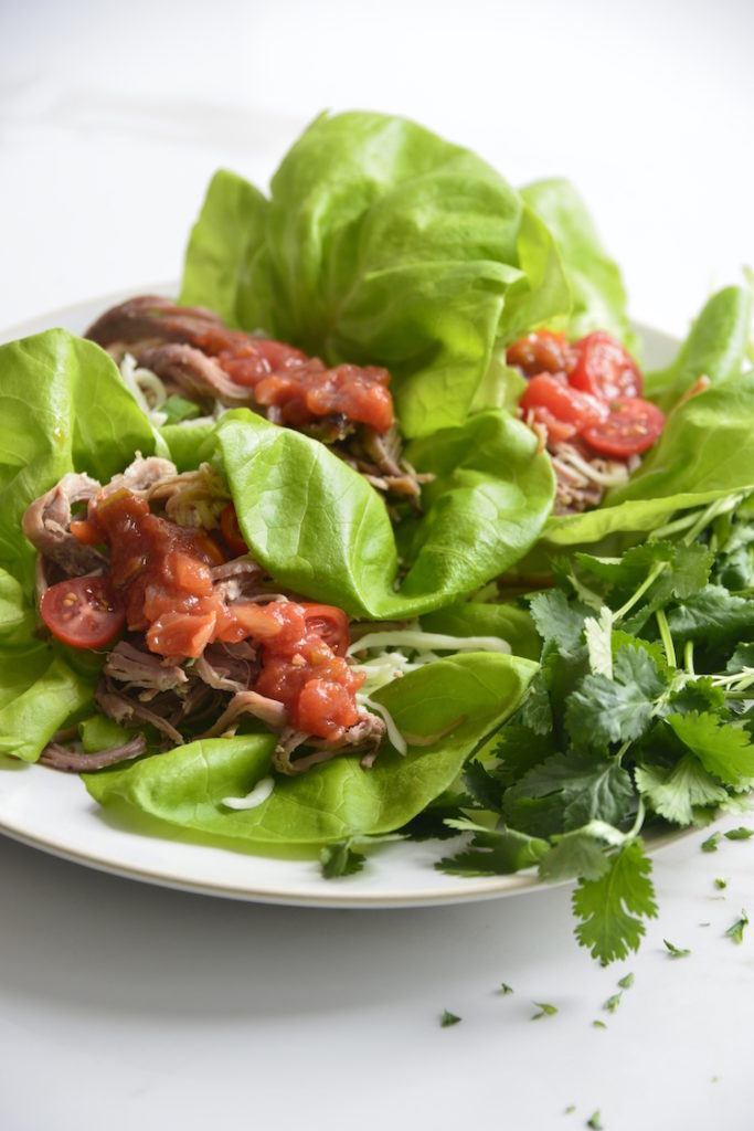 Lettuce Wrapped Leftover Pulled Pork Tacos The Keto Queens