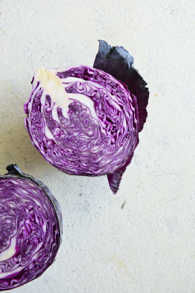 image of purple cabbage on white surface