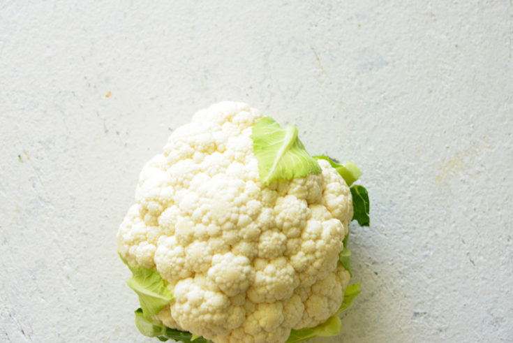 image of cauliflower on a white surface