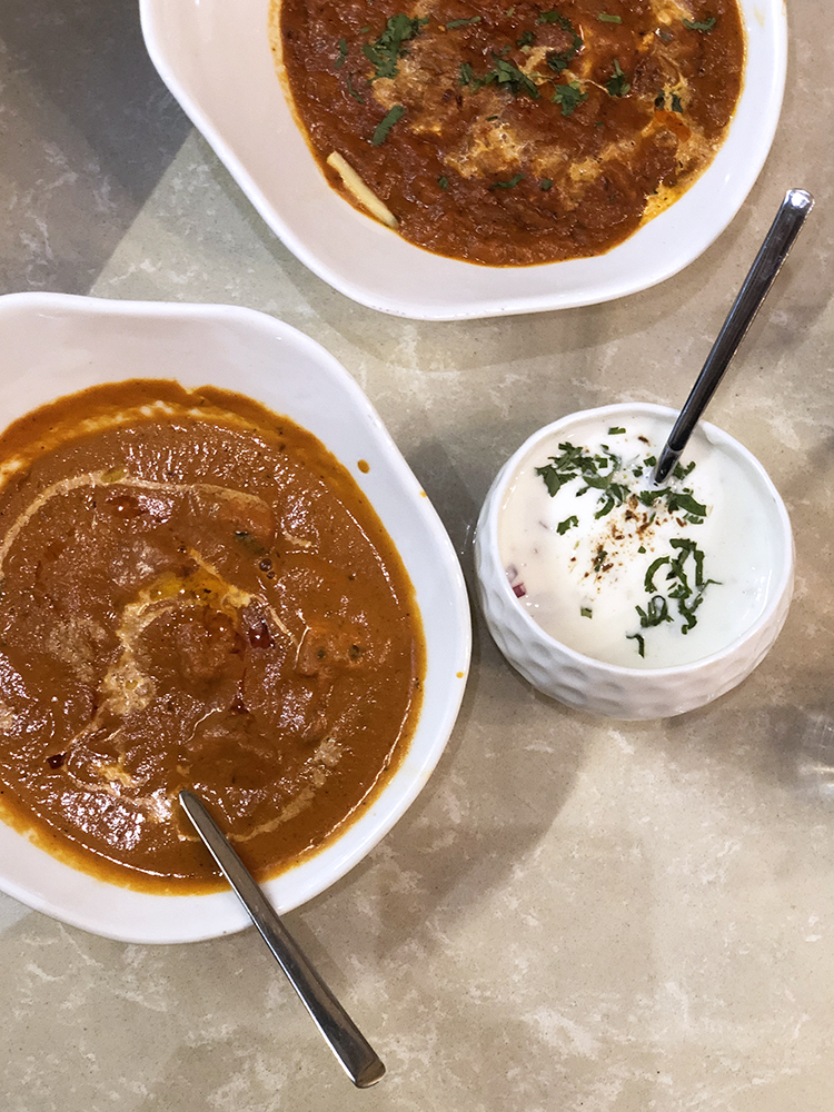 Chicken Tikka Masala Butter Chicken and Raita