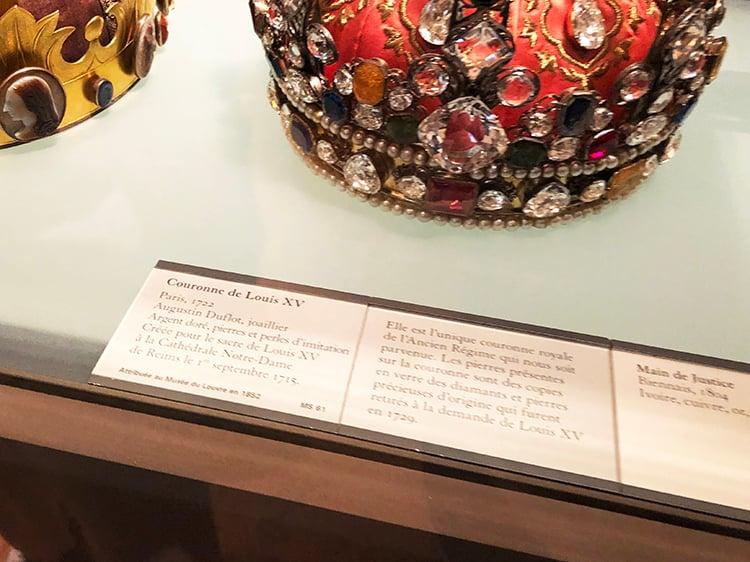 Couronne de Louis XV Placard
