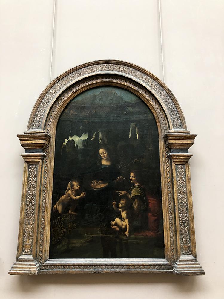 La Vierge aux Rochers Painting