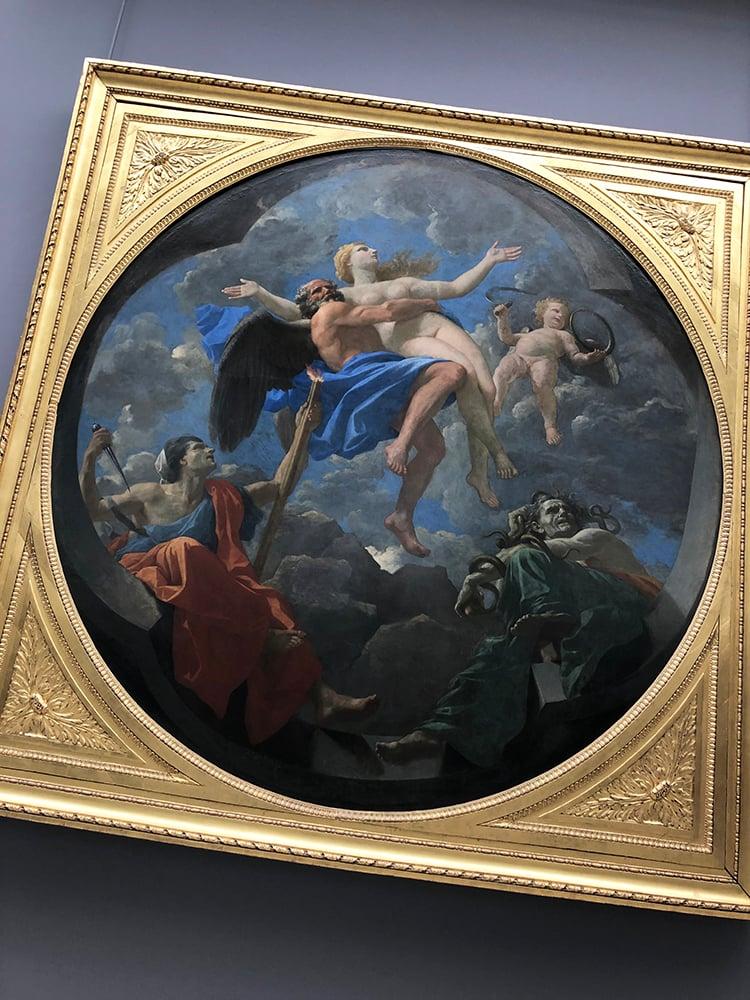 Le Temps Soustrait la Verite aux Atteintes de l'Envie et de la Discourde Painting