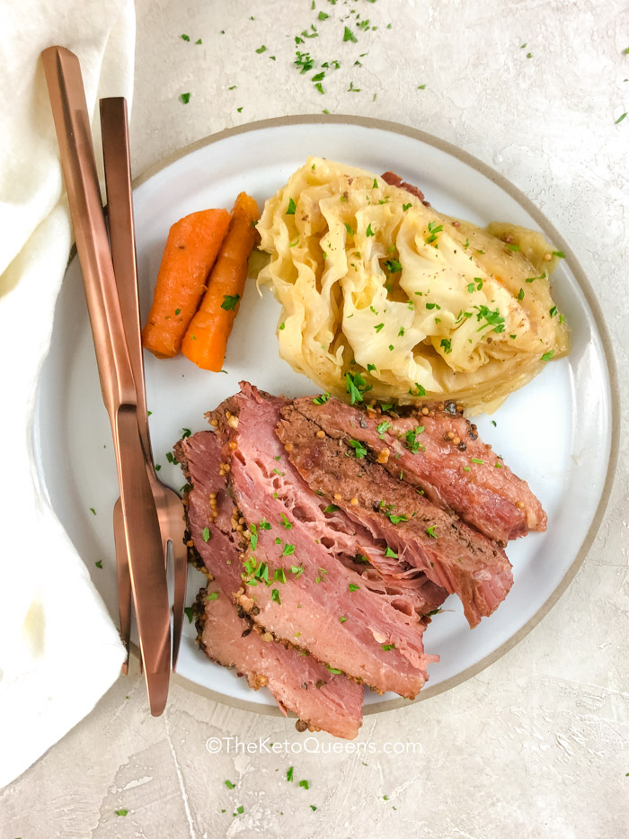 Keto Pressure Cooker Corned Beef And Cabbage Instant Pot Recipe The Keto Queens
