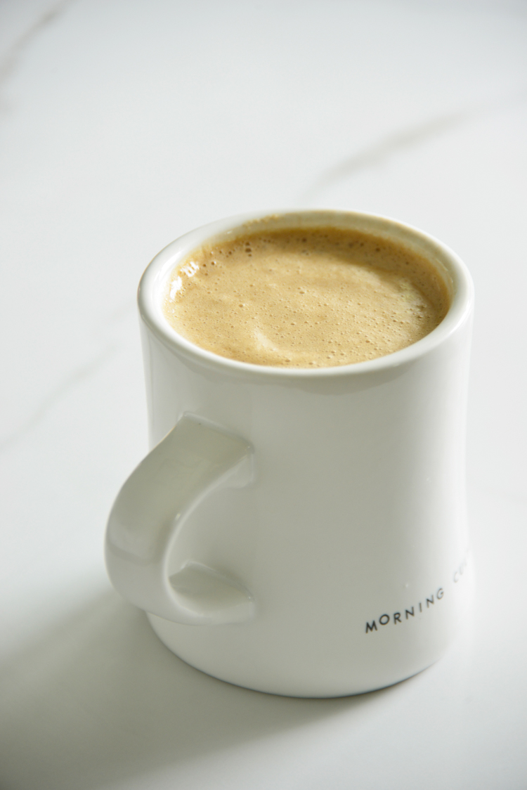 image of bulletproof coffee in a white mug
