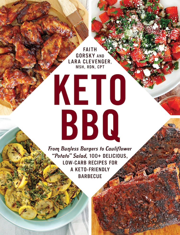 Keto BBQ Cookbook cover with 4 recipes on the front