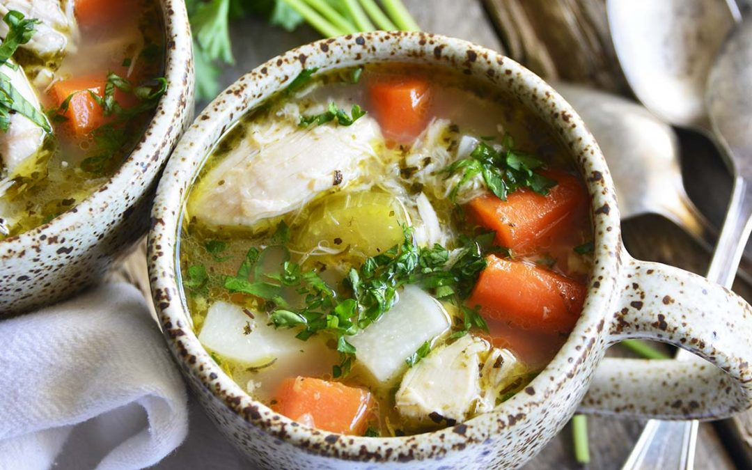 The Best Leftover Chicken Bone Broth Soup Recipe