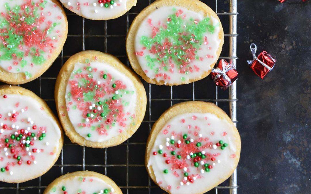 Keto Christmas Sugar Cookies with Icing