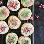 keto christmas sugar cookies with icing featured image