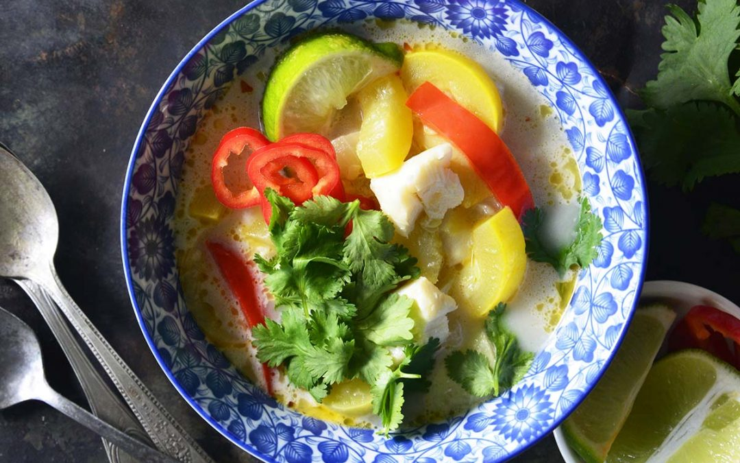 The Best Thai Coconut Curry Recipe with Fish!