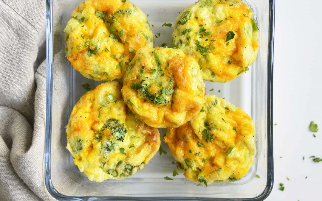 Low Carb Broccoli Cheddar Egg Muffins