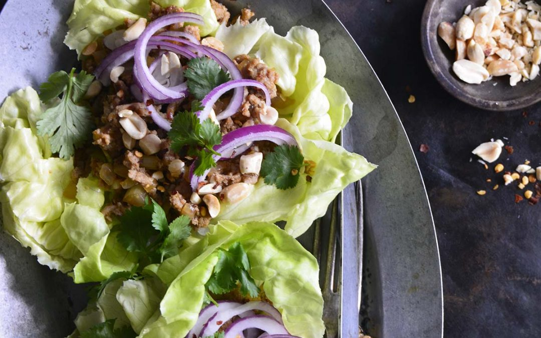 Thai Turkey Lettuce Wraps – Low Carb and Gluten Free