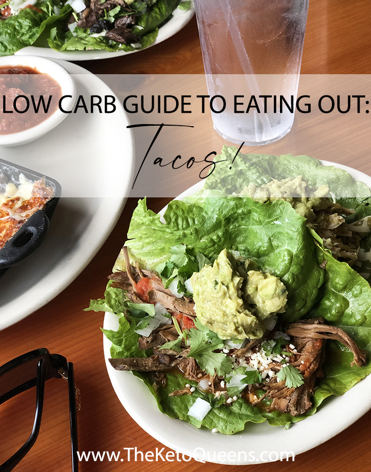Whether you stuff them with beef, steak, pork, or just veggies, tacos are one of the easiest meals to keep #lowcarb when you're eating out. #keto