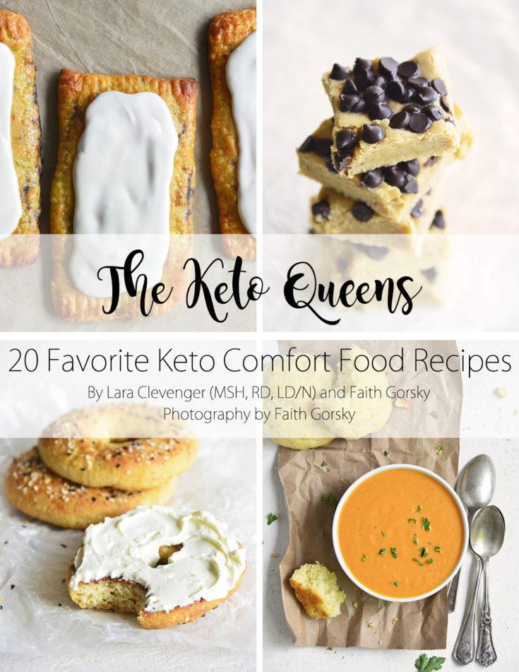 keto treats and keto comfort foods ebook cover